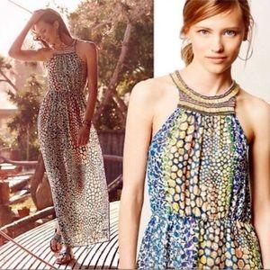 Anthropologie | HD In Paris pattern beaded dress